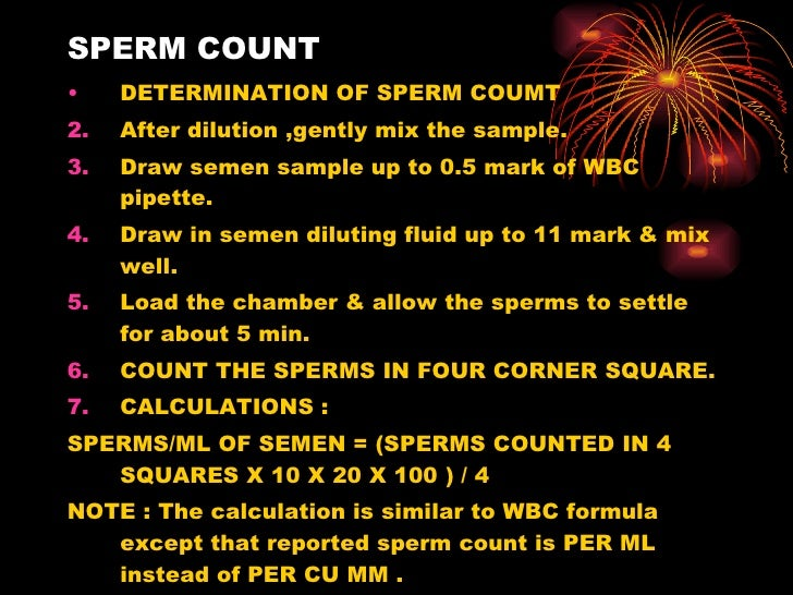 Specimen for sperm count