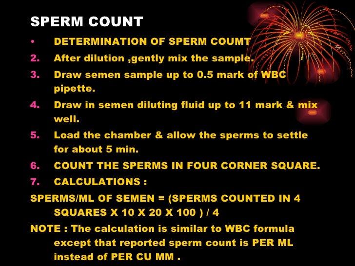 Specimen for sperm count