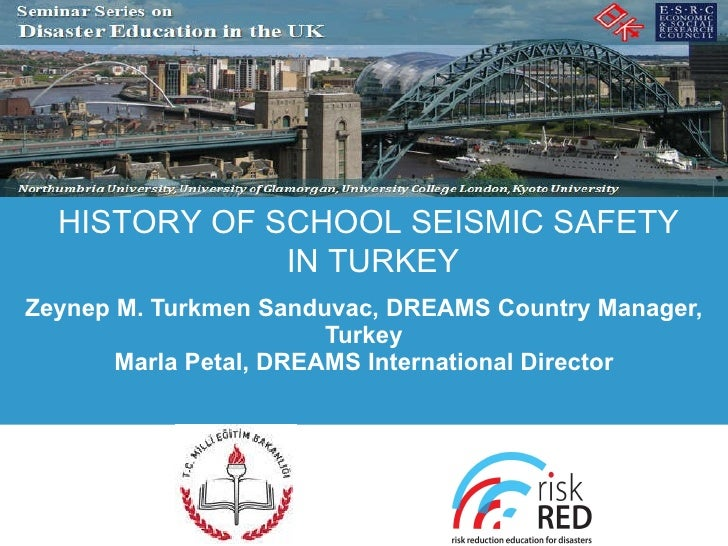 Zeynep M. Turkmen Sanduvac, DREAMS Country Manager, Turkey Marla Petal, DREAMS International Director HISTORY OF SCHOOL SE...