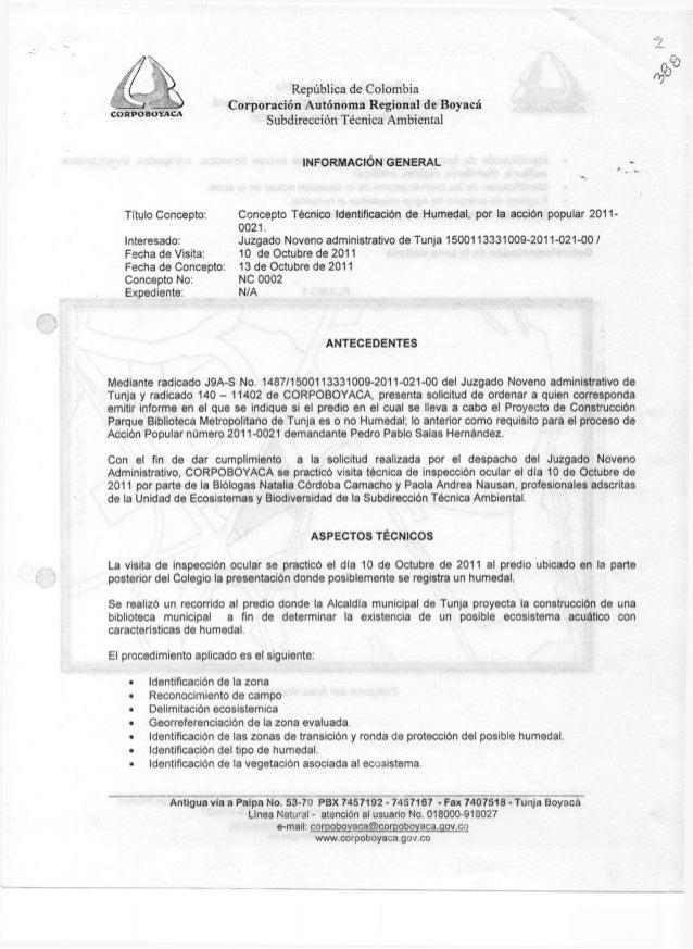 República de Colombia                        Corporación Autónoma Regional de BoyacáCORPOBOYACA                           ...