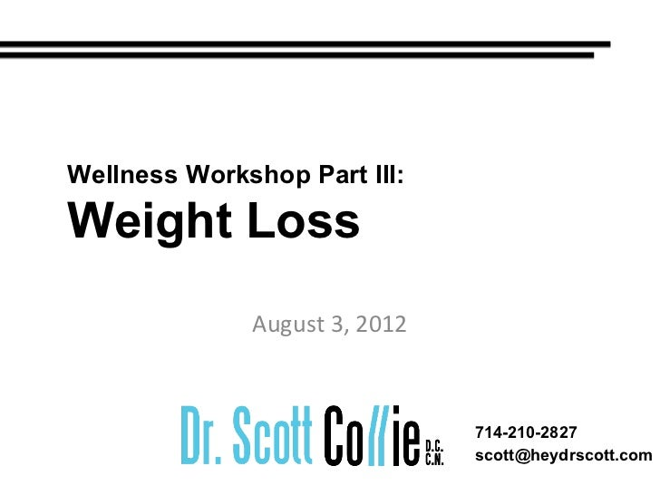 Dr Scott Collie S Health Tips Weight Loss