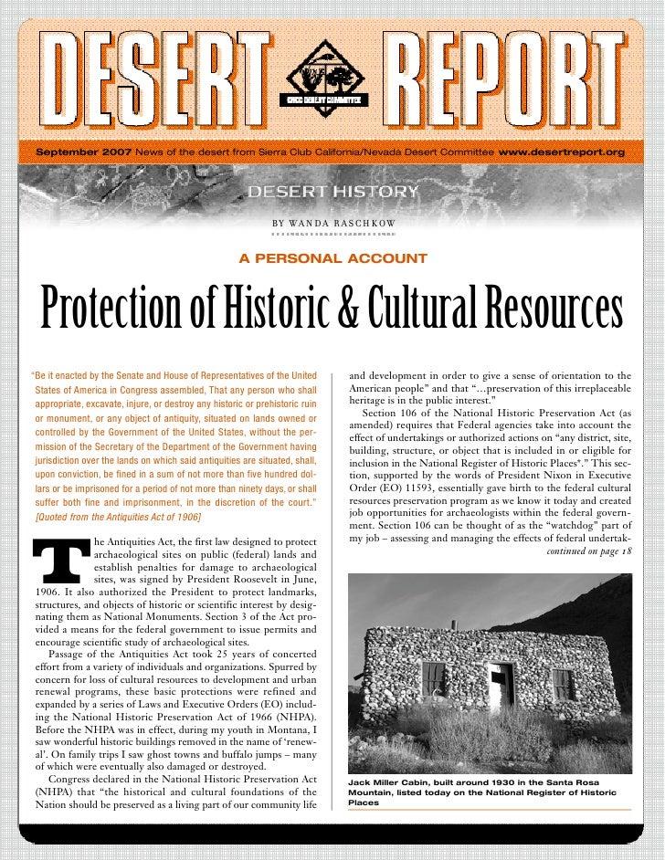 September 2007 News of the desert from Sierra Club California/Nevada Desert Committee www.desertreport.org                ...