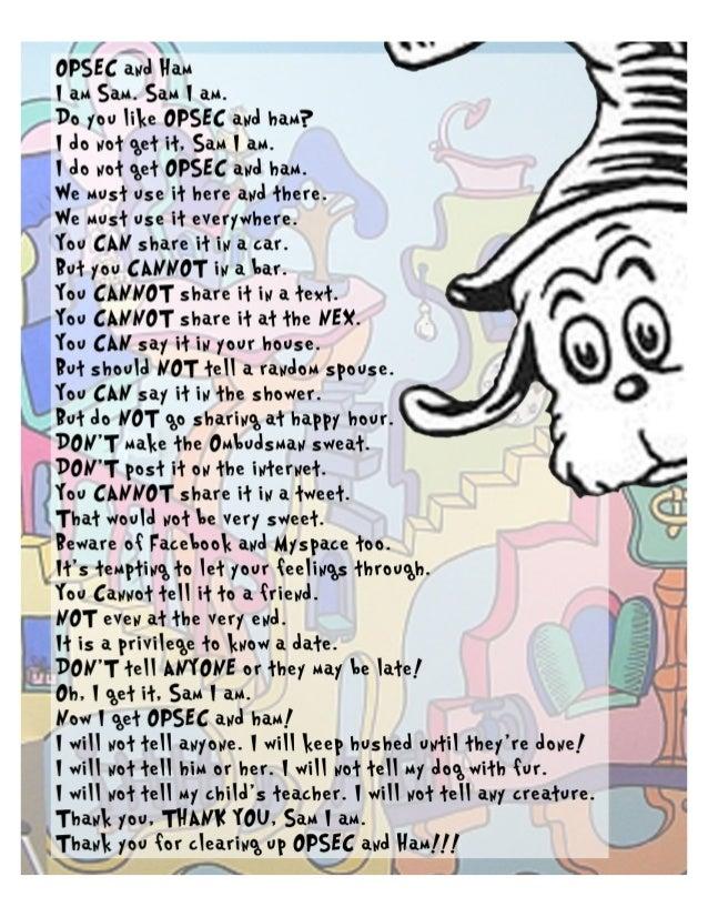 OPSEC - Dr Seuss Style