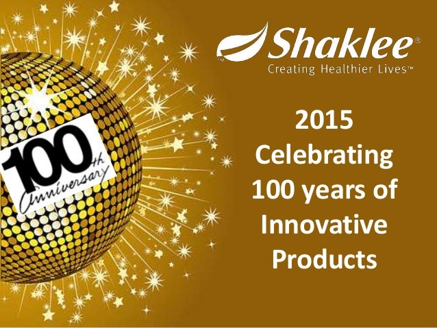 2015 Celebrating 100 years of Innovative Products