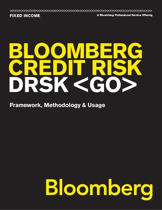 Drsk bloomberg deafult risk