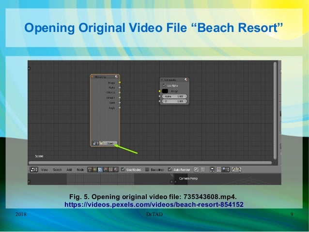 DrTAD improving Beach Resort Video with Blender Compositing