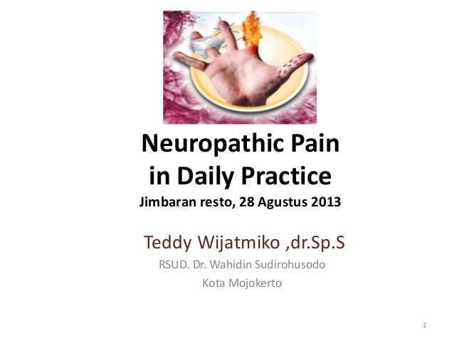 Neuropathic Pain in Daily Practice Jimbaran resto, 28 Agustus 2013 Teddy Wijatmiko ,dr.Sp.S RSUD. Dr. Wahidin Sudirohusodo...