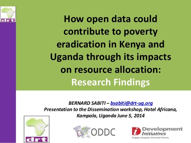 How open data could contribute to poverty eradication in Kenya and Uganda through its impacts on resource allocation: Rese...