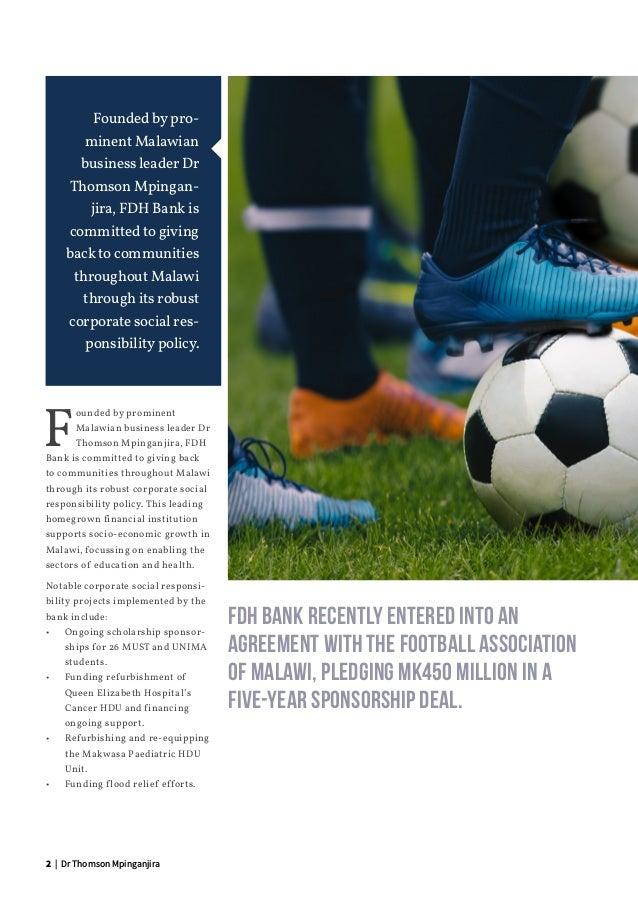 FDH Bank: Corporate Social Responsibility Slide 2