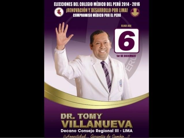 Lista N° 6 al Consejo Regional III- Lima  Compromiso Médico por el Perú