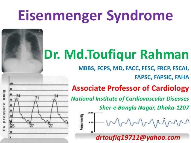 Eisenmenger Syndrome Dr md toufiqur rahman cardiologist nicvd