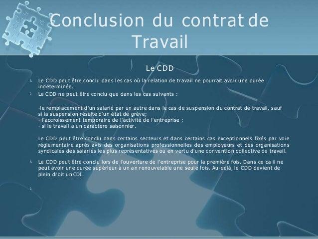 conclusion d un contrat de travail Drt social ppt (1) conclusion d un contrat de travail