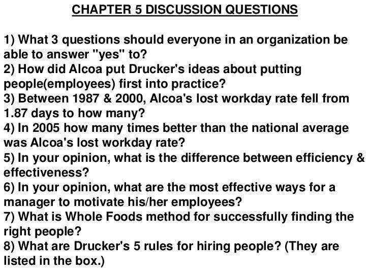 Drucker chapter 5