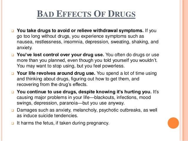 Drugs the negative effect of crocodile essay