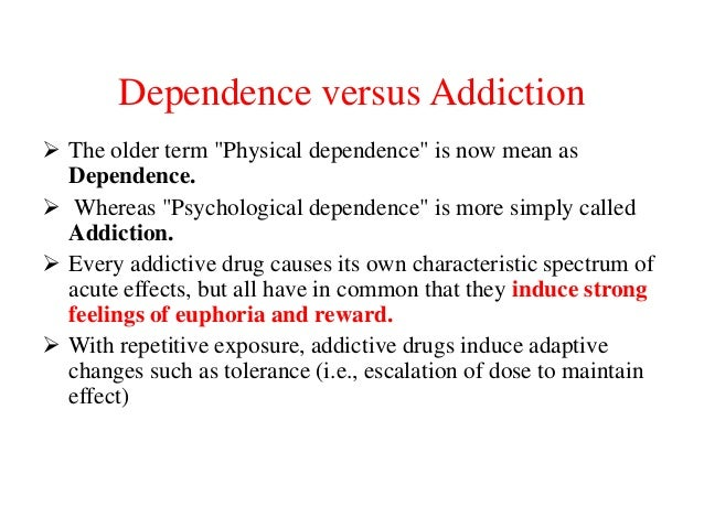 What's the Difference Between Tolerance and Dependence?