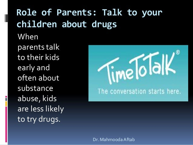 Start Conversations Early About Drugs >> Drug Abuse Prevention