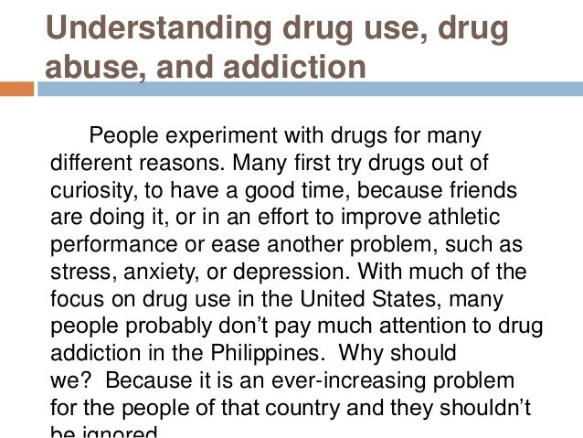 the different ways of handling drug abuse The national institute on drug abuse says the three classes of taken the right way and under a prescriptions for controlled substances from different.
