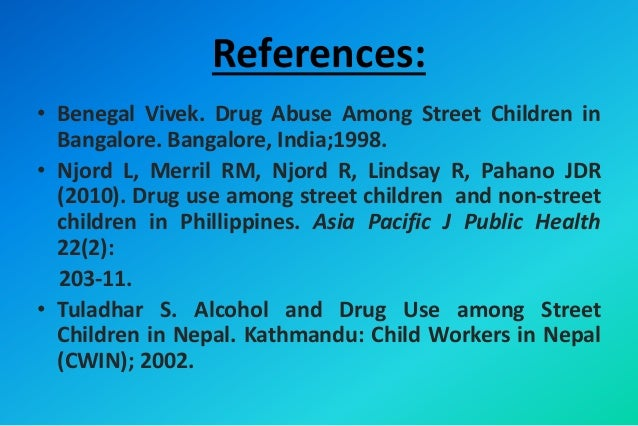 drug abuse research paper Drug use and abuse project research papers look at a sample of a paper ordered for a research paper with specific guidelines and questions to be answered paper masters can help with research paper relief today.