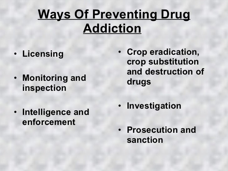 how to stop drug addiction