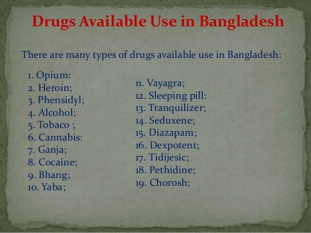 drug addiction names