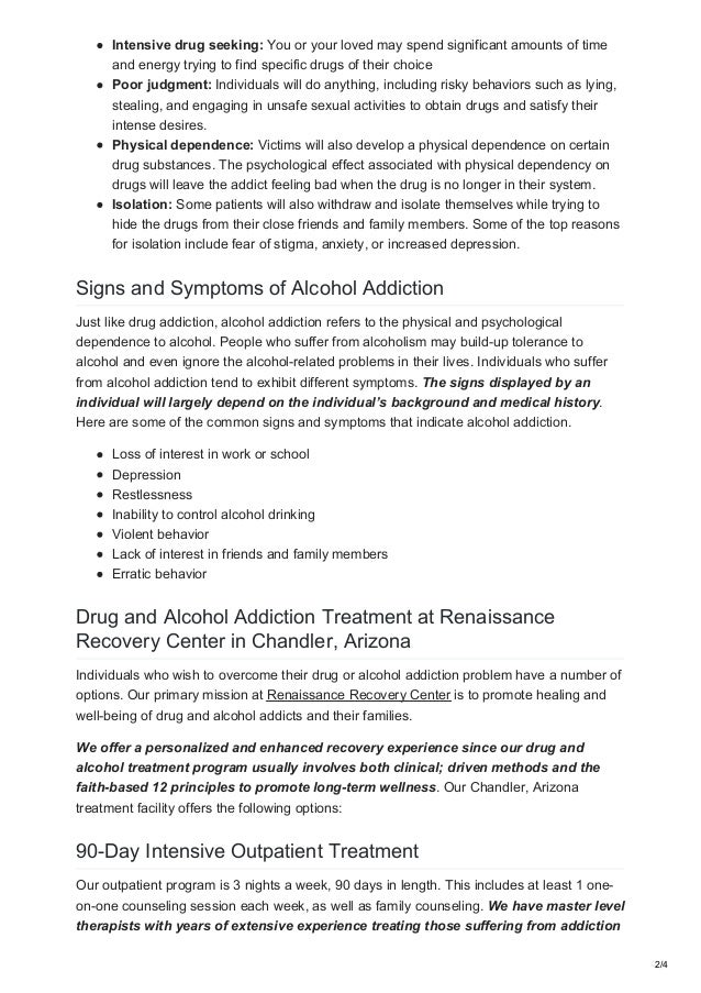 Drug And Alcohol Treatment In Chandler Arizona