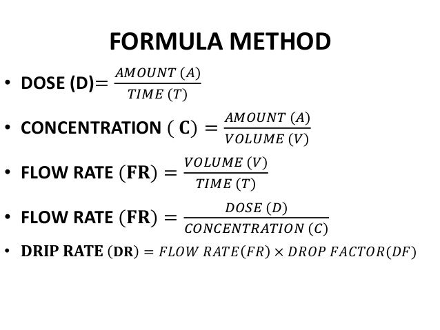 infusion time math problems
