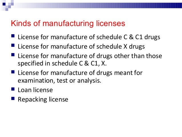  The manufacture of drugs must be carried out under active direction & personal supervision of technically qualified staf...