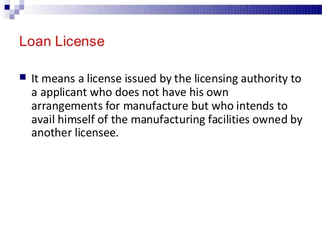 Repacking License  It means the process of breaking up any drug from a bulk container into small packages & the labeling ...