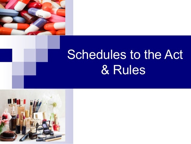  Second Schedule Standards to be complied with by imported drugs & by drugs manufactured for sale, sold, stocked or exhib...