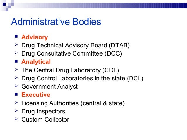 Constitution of DTAB Ex-officio members 1. Director General of Health Services (chairman of the board) 2. Drug Controller ...