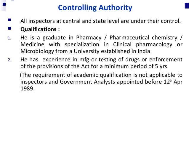 Qualifications: 1. He is a graduate in Pharmacy / Pharmaceutical chemistry / Medicine with specialization in Clinical phar...
