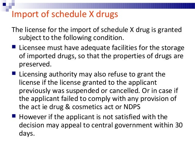 Import of drugs for personal use  Small quantities of drugs, the import of which is otherwise prohibited may be imported ...