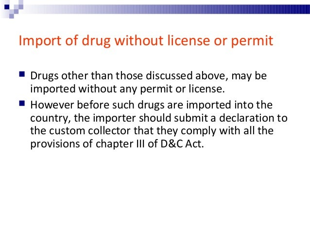Drugs exempted from provisions regulating imports of drug  Substances not intended for medical use. (condition: label sho...