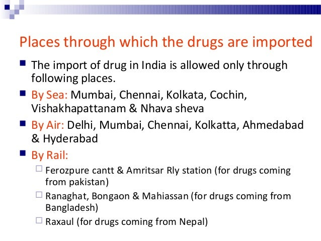 Offences & Penalty related to import of drug  Any one who, 1. Imports adulterated or spurious drug or cosmetic or cosmeti...
