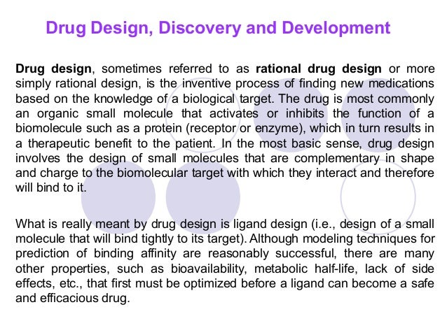 Drug Design Discovery And Development