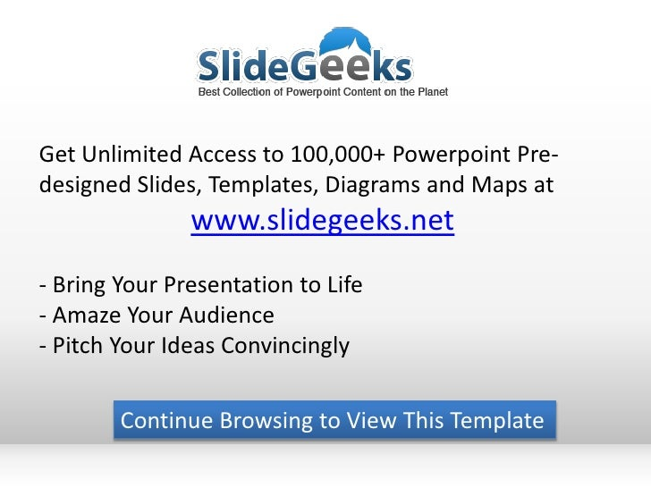 Get Unlimited Access to 100,000+ Powerpoint Pre-designed Slides, Templates, Diagrams and Maps at               www.slidege...