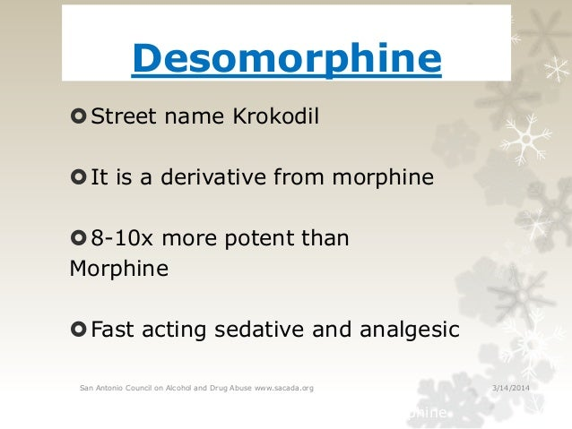 street names for codeine and morphine relationship
