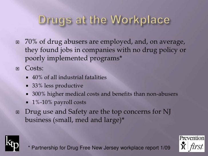2 drug free workplace policy program