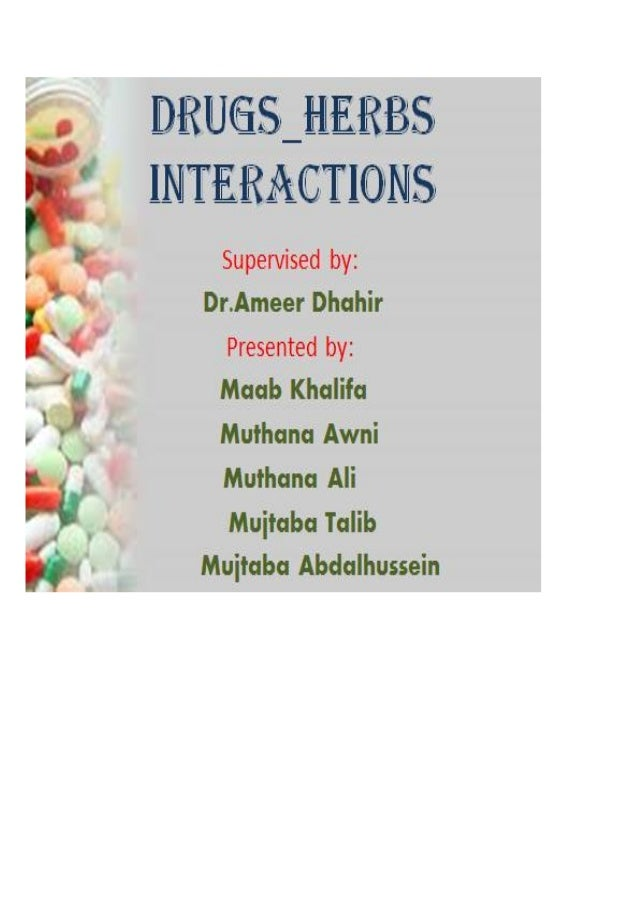Drug Herbs Interactions