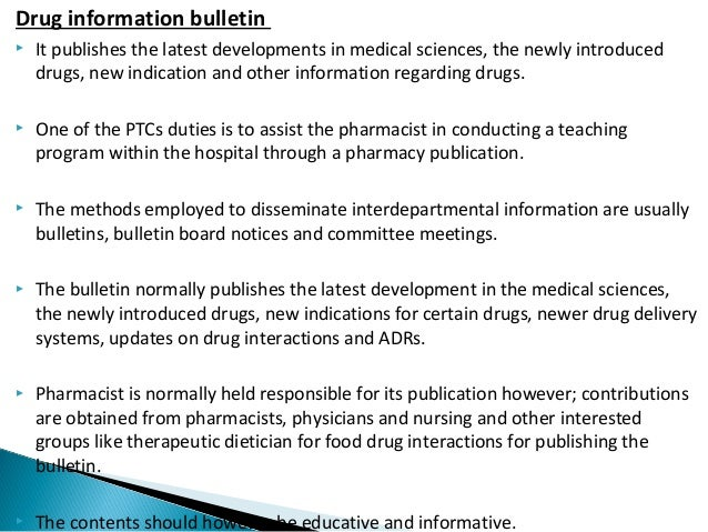 23 - Drug Information Pharmacist