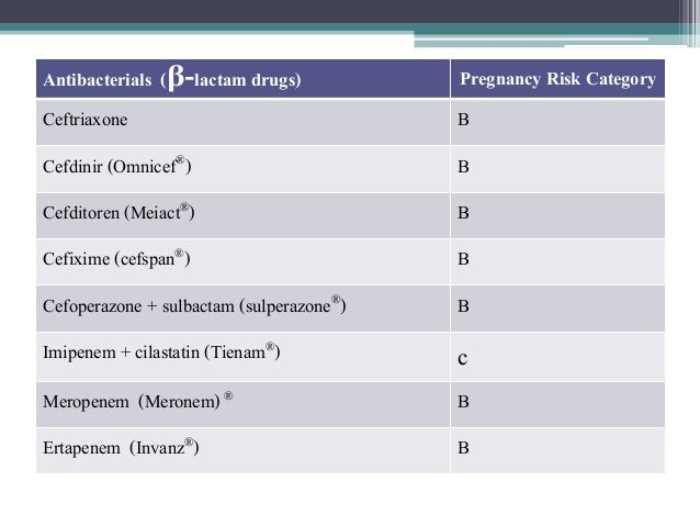 Drug in pregnancy and lactation present