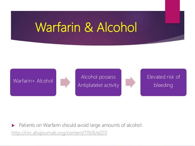klonopin and alcohol interactions with coumadin