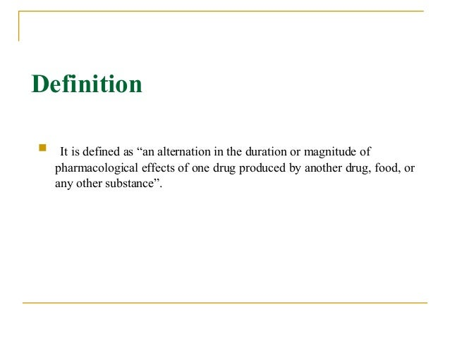 Drug interaction - Wikipedia