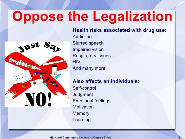 The reasons why legalizing drugs would be beneficial