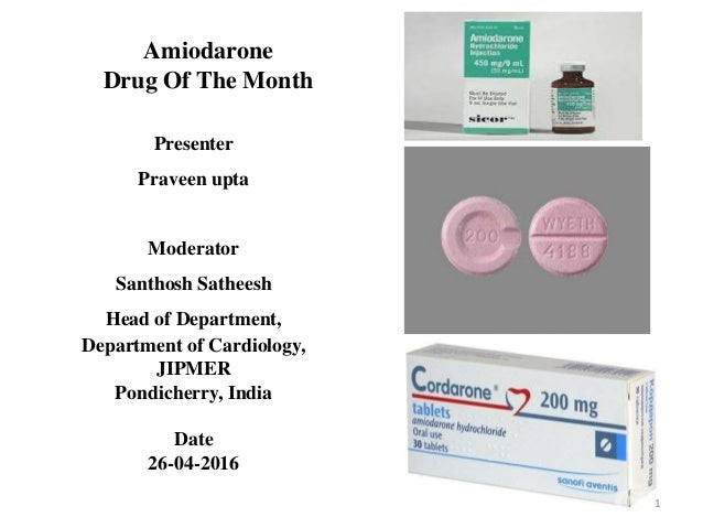 Amiodarone Medication Dosage