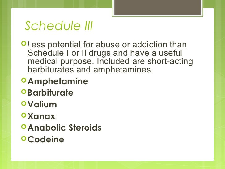 valium schedule iv drugs