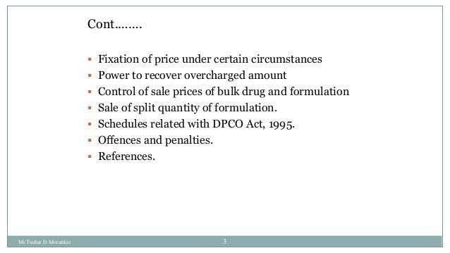 Drug price control order 2013 Slide 3