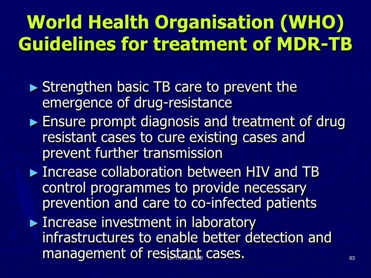 hiv and tb treatment guidelines