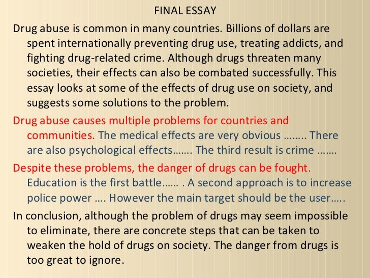 drugs introduction and conclusion essay How to comparison and contrast essay drugs use in sports essay what to write in a research paper introduction food and health essay in english essay environmental.
