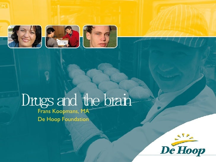 Drugs and the brain Frans Koopmans, MA De Hoop Foundation